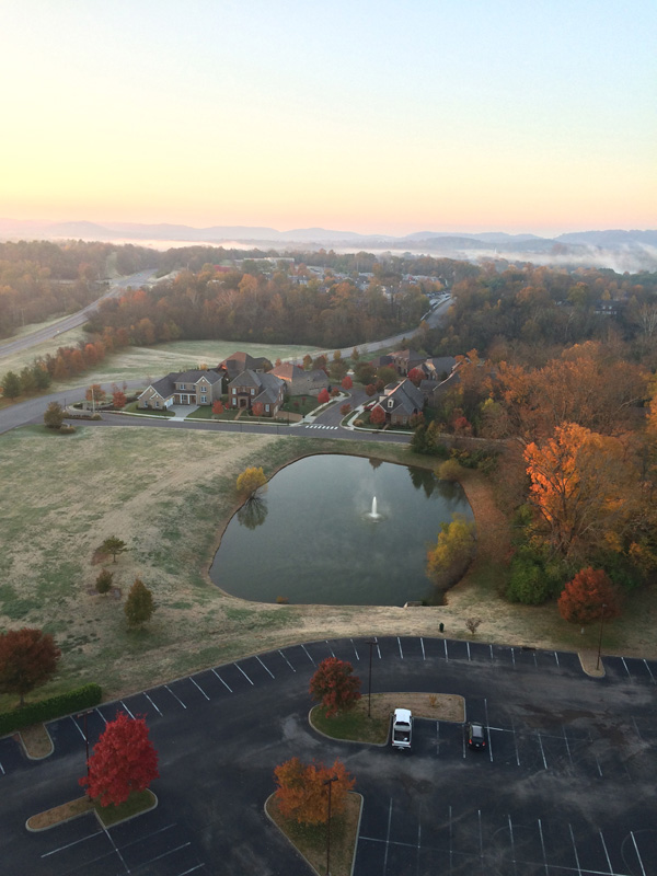 Beautiful fall colors as seen from the balloon