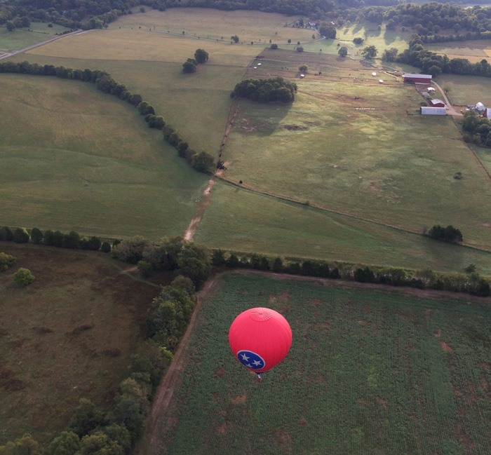What does hot air ballooning feel like?