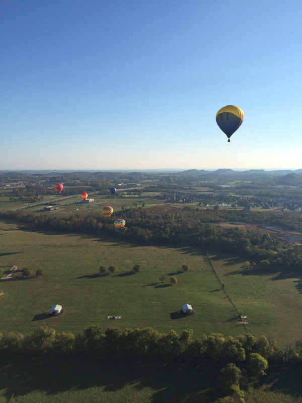 Lots of local Nashville balloons flying